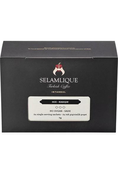 Selamlique Mi x ed Türk Kahvesi Sade 24 Adet x 7G 168 gr