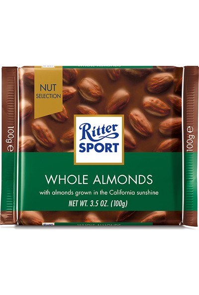 Ritter Sport Whole Almonds 100 gr
