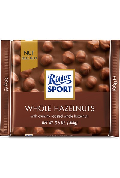 Ritter Sport Whole Hazelnut 100 gr