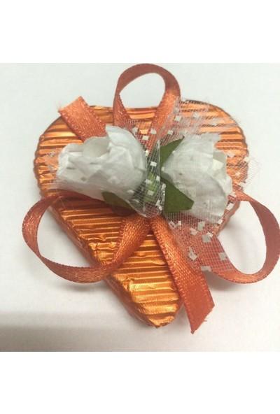 Alpenhaın turuncu Kalp Çikolata 1Adet