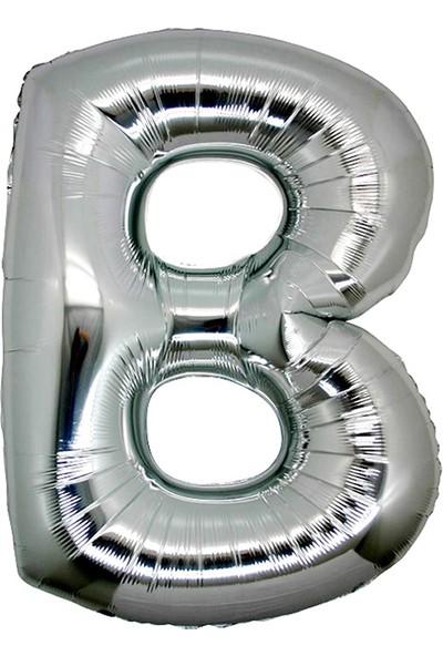 Alpenhaın b Harfi Gümüş Folyo Balon 1 Metre