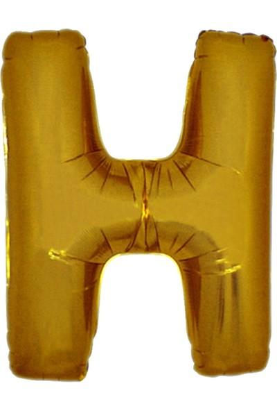 Alpenhaın h Harfi Altın Folyo Balon 1 Metre
