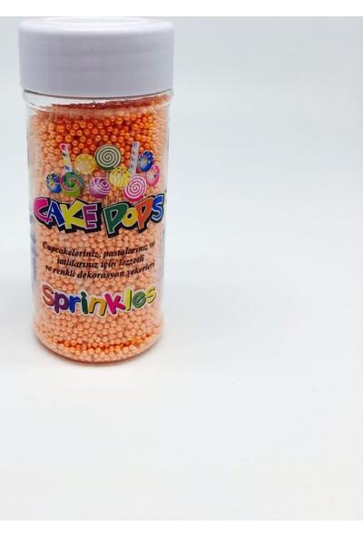 Sprinkles turuncu 2 Mm Boncuk Sprinkles 90 Gr.