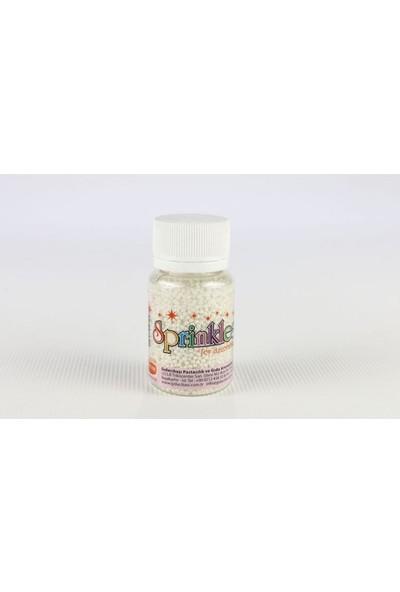 Sprinkles beyaz 2Mm Boncuk Sprinkles 45 Gr.