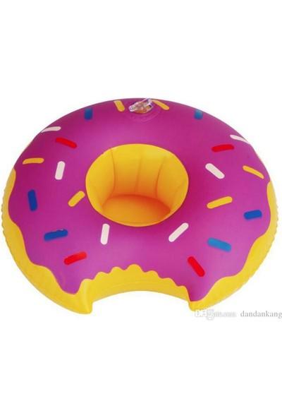 Big Mouth Sevimli Donut Bardak Yüzdürücü İçecek Flatörü Bardak Tutucu Flatör