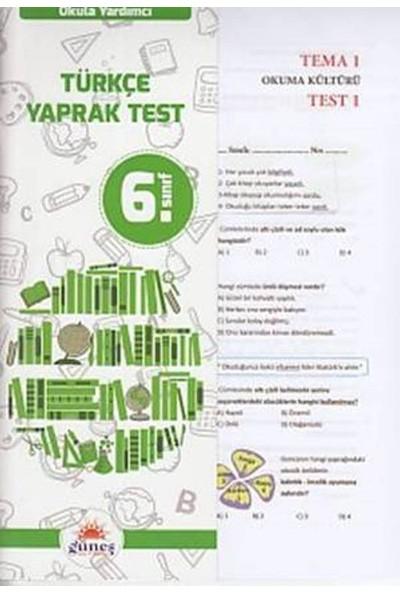 Güneş 6. Sınıf Türkçe Yaprak Test