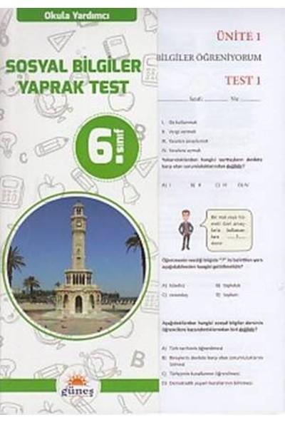 Güneş 6. Sınıf Sosyal Bilgiler Yaprak Test