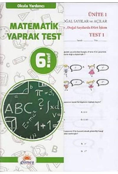 Güneş 6. Sınıf Matematik Yaprak Test