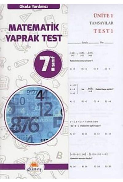 Güneş 7. Sınıf Matematik Yaprak Test