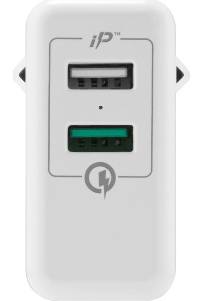 Spigen Essential 30W Hızlı Şarj Cihazı 2 Port USB Qualcomm 3.0 18W + iP (Intelligent Power Technology) 12W Duvar Şarjı F207 - 000AD21390