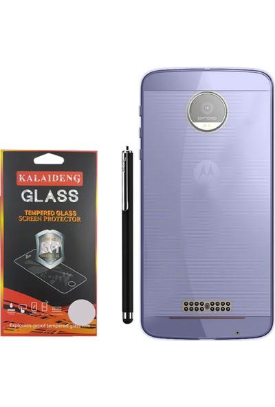 Gpack Motorola Moto Z Kılıf 02mm Silikon Case +Kalem +Cam
