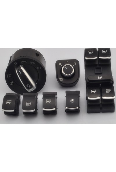 Volkswagen Golf 5 Kromlu Kontrol Düğmeleri 6 Lı Set