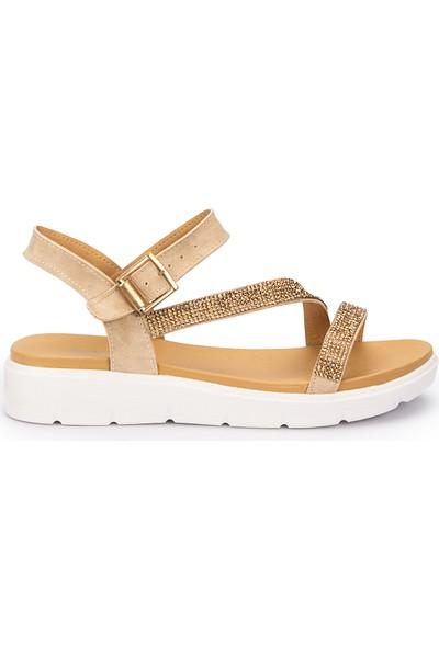 Polaris 71.310129.Z Altın Kadın Sandalet