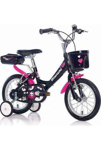 Bianchi Pink Magic Kız Çocuk Bisikleti-Neon Fuşya-Siyah-Beyaz