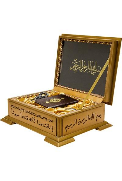 Hayrat Ahşap Kutulu Kur'an(Cep B+Tesbih+Esans)