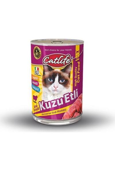 Catlife Kuzu Etli Yetişkin Kedi Konservesi 415 Gr