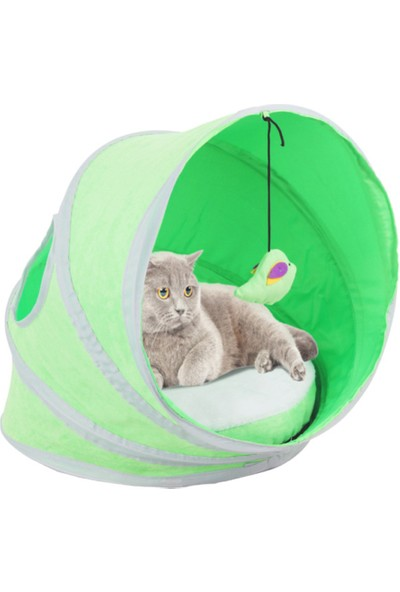 Pawise Yataklı Kedi Çadır Yuva 38 Cm X 38 Cm X 43 Cm