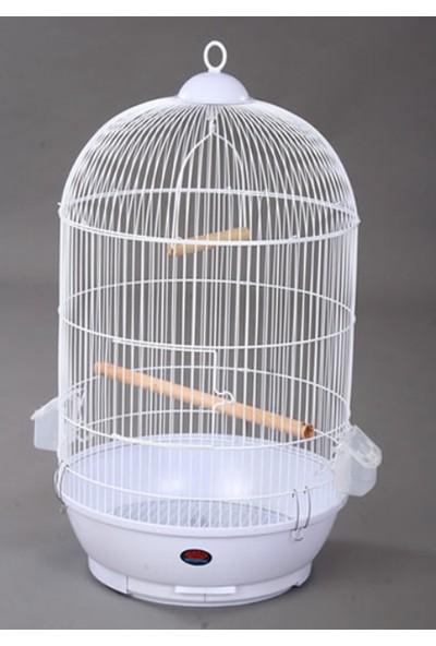 Dayang Boyalı Yuvarlak Kuş Kafesi 40 Cm X 70 Cm