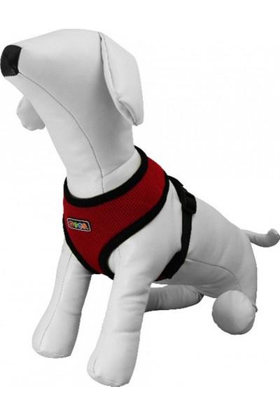 Yumuşak Dokulu Köpek Göğüs Tasması Xsmall Kırmızı