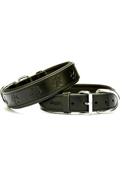 Doggie Comfort Pati Desenli Boyun Tasması Siyah 3,5 X 60 cm