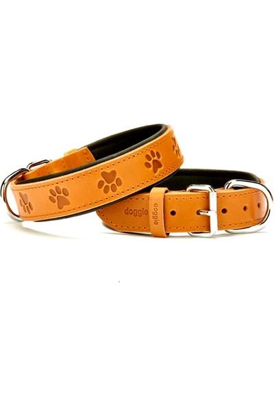 Doggie Comfort Pati Desenli Boyun Tasması Kamel 3,5 X 60 cm