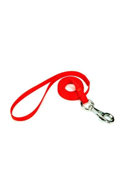 Doggie Dokuma Kedi Gezdirme Kayışı Kırmızı 1,0 X 150 cm