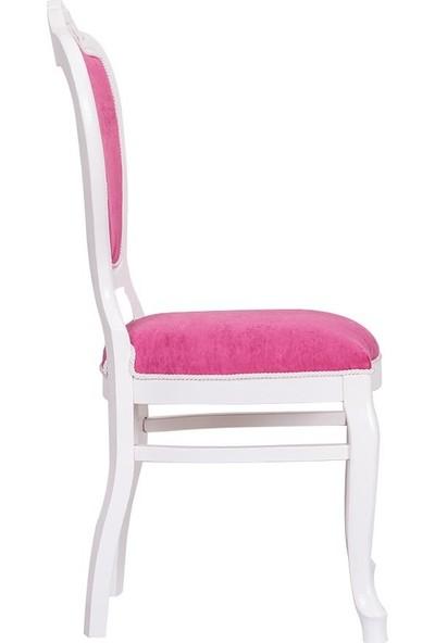 3A Mobilya Pink Oymalı Sandalye - Pembe