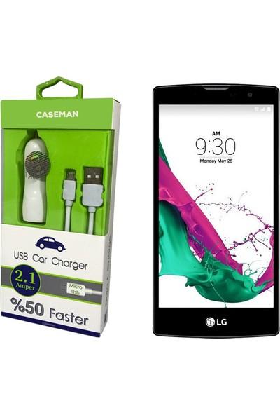 Case Man LG G4C Araç Şarj Cihazı Adaptör + Data Kablosu Hızlı Şarj Özellikli