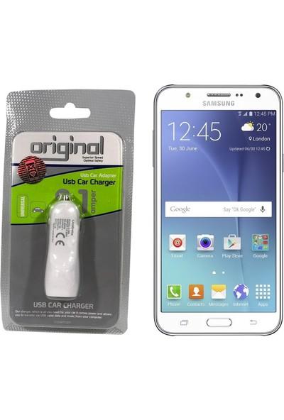 Case Man Samsung Galaxy J7 Araç Şarj Cihazı Hızlı Şarj Özellikli Adaptör