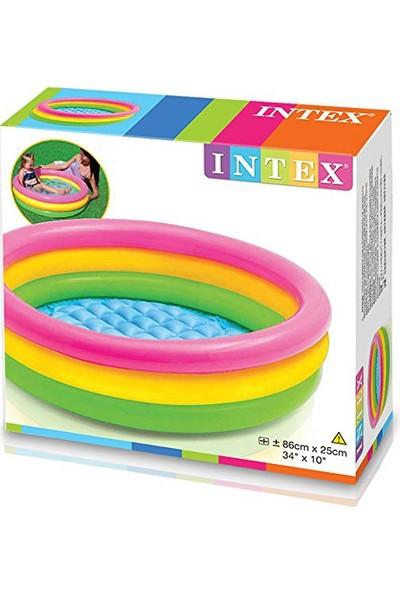 Intex 3 Bogumlu Sunset Bebek Havuz 86X25Cm