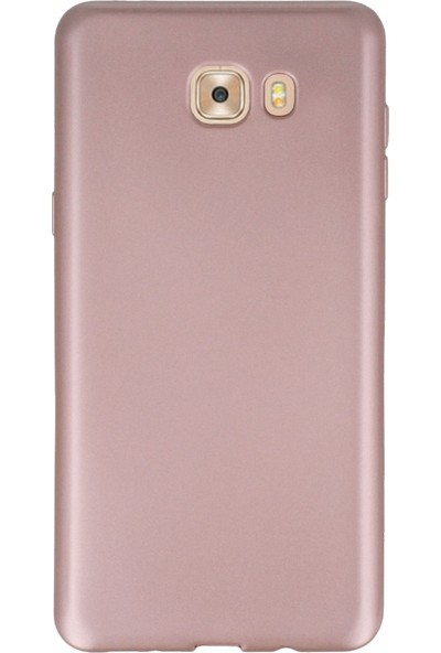 Eiroo Samsung Galaxy C9 Pro Ultra İnce Mat Silikon Kılıf