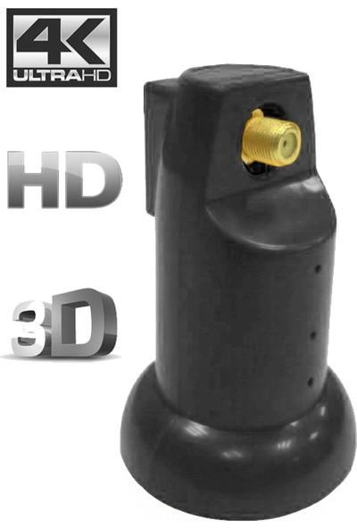 Atlanta Ultra Single Tekli Tek Çıkışlı 4K Full HD LNB (Gold Konnektör/1 Uydu Alıcıda Kullanım)