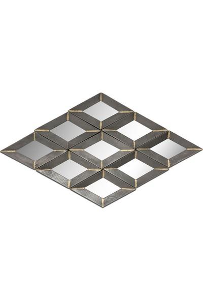 Vitale Patine S Gümüş Geometri Dekoratif Ayna