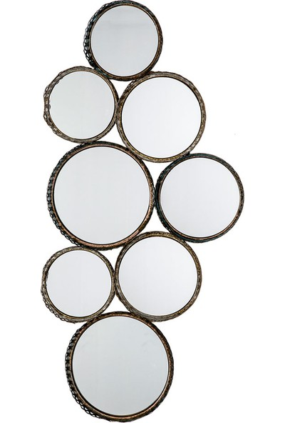 Vitale Akise Eskitme Metal 8Li Dekoratif Ayna