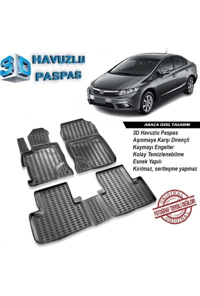 Honda Civic 3D Havuzlu Paspas 2012-2016 Arası A+Plus
