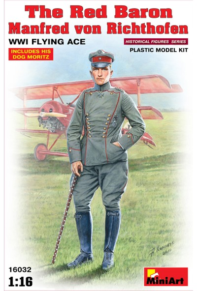 Miniart 1/16 Ölçek Plastik Maket, Red Baron Manfred Von Richthofen, Wwı Flying Ace