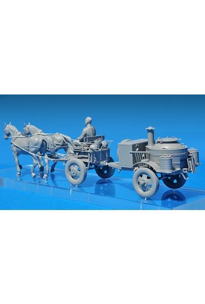Miniart 1/35 Ölçek Plastik Maket, Kp-42 Saha Mutfağı Ve Çekici Atlar