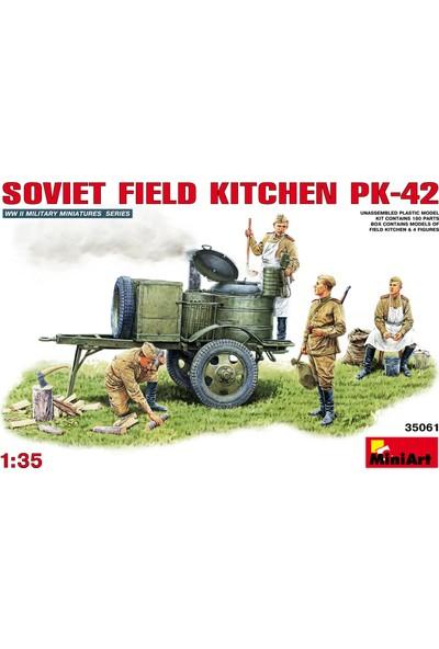 Miniart 1/35 Ölçek Plastik Maket, Kp-42, Sovyet Saha Mutfağı