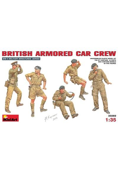Miniart 1/35 Ölçek Plastik Maket, İngiliz Zırhlı Araç Mürettebatı