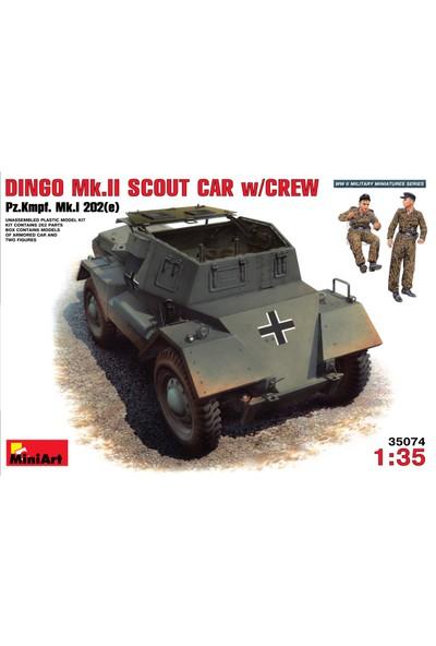 Miniart 1/35 Ölçek Plastik Maket, Dingo Mk Iı Ve Mürettebatı