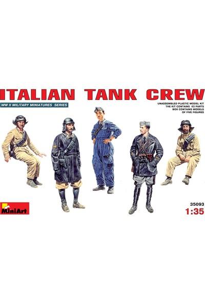 Miniart 1/35 Ölçek Plastik Maket, İtalyan Tank Mürettebatı