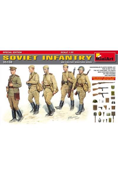 Miniart 1/35 Ölçek Plastik Maket, Sovyet Piyadesi, Silah Ve Ekipmanlı Özel Sürüm