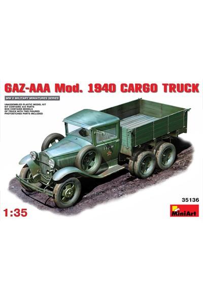Miniart 1/35 Ölçek Plastik Maket, Gaz-Aaa Kargo Kamyonu, 1940 Model