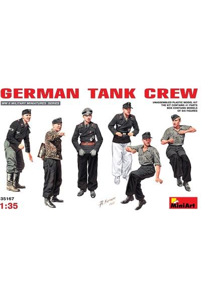 Miniart 1/35 Ölçek Plastik Maket, Alman Tank Mürettebatı