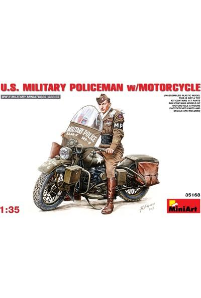 Miniart 1/35 Ölçek Plastik Maket, Abd Askeri Polisi Ve Motosikleti