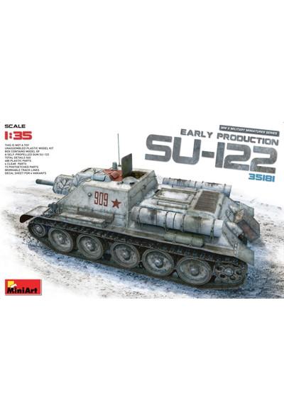 Miniart 1/35 Ölçek Plastik Maket, Su-122 Erken Dönem