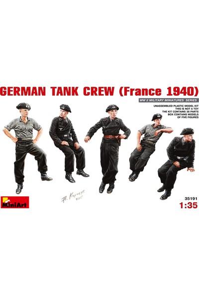 Miniart 1/35 Ölçek Plastik Maket, Alman Tank Mürettebatı, Fransa 1940