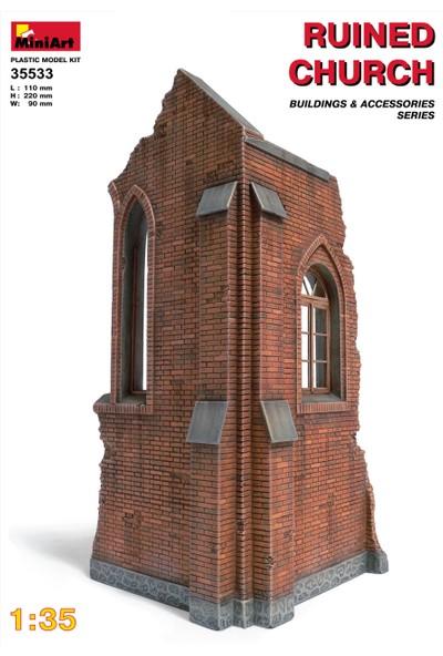 Miniart 1/35 Ölçek Plastik Maket, Yıkık Kilise