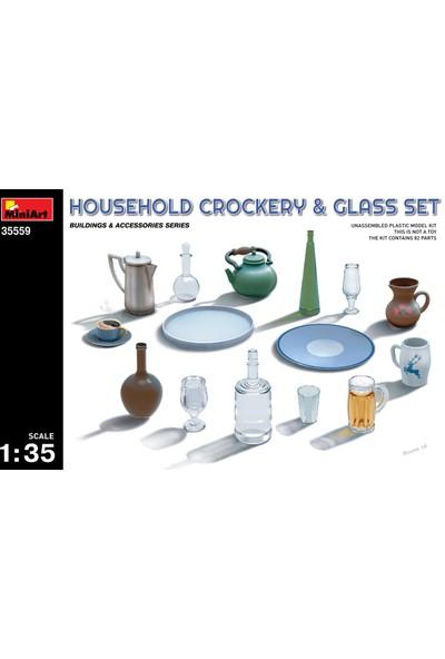 Miniart 1/35 Ölçek Plastik Maket, Seramik Ve Cam Mutfak Eşyaları