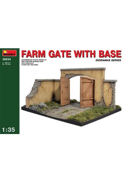 Miniart 1/35 Ölçek Plastik Maket, Çiftlik Kapısı Ve Zemini